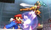Ataque Smash lateral Mario 3DS SSB4