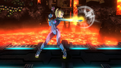 Ataque normal de Samus Zero (1) SSB4 (Wii U)