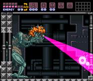 Hiperrayo en Super Metroid