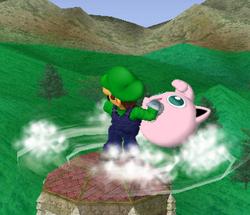 Lanzamiento trasero de Luigi (1) SSBM