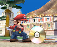 Mario encontrando un CD SSBB