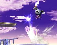 Meta Knight usando Lanzadera SSBB