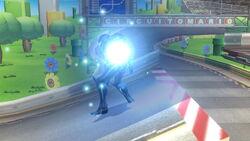 Samus Oscura siendo derrotada SSB4 (Wii U)