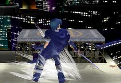 Danza del Sable Estela Azul Abajo SSBM