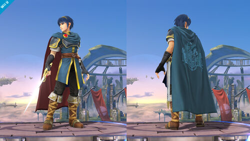 Detalles del cambio de imagen de Marth - (SSB. for Wii U)