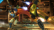 Ike y Samus en la Pirosfera SSB4 (Wii U)