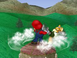 Lanzamiento trasero de Mario (1) SSBM