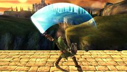 Ataque fuerte hacia arriba Link SSBB