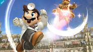 Dr. Mario y Bowser en el Coliseo SSB4 (Wii U)