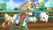 Fox y Jigglypuff en 3D Land SSBU