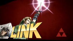 Pose de victoria de Link (2-2) SSB4 (Wii U)