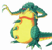 Artwork de Kraid en Super Metroid