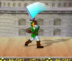 Ataque Smash hacia arriba de Link (2) SSBM