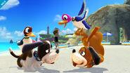 Duck Hunt parándose de cabeza SSB4 (Wii U)