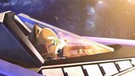 Fox sobre un Arwing en el tráiler de SSB4 (Wii U)