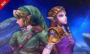 Zelda y Link en Campo de Batalla SSB4 (3DS)