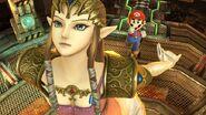 Zelda y Mario en la Central Geotérmica SSB4 (Wii U)
