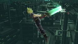 Ataque aéreo hacia atrás Cloud (2) SSB4 (Wii U)