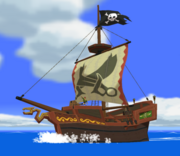 Barco pirata de Tetra en TLoZ The Wind Waker