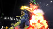 Captain Falcon usando Salto depredador contra Little Mac SSB4 (Wii U)
