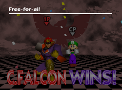 Pose de victoria de Captain Falcon (1-1) SSB