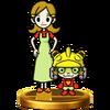 Trofeo de 9-Volt y su madre SSB4 (Wii U)