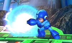 Ataque Smash lateral de Mega Man (1) SSB4 (3DS)