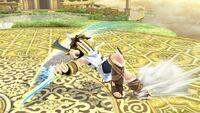 Ataque en carrera (animación 2) Pit SSB4 Wii U