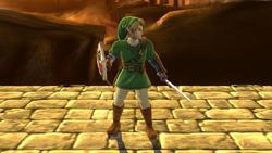 Pose de espera de Link (2) SSB4 (Wii U)