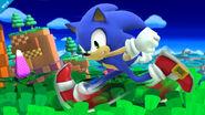 Burla lateral de Sonic SSB4 (Wii U)