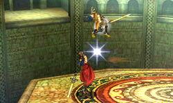 Lanzamiento hacia arriba Ike (4) SSB4 (3DS)