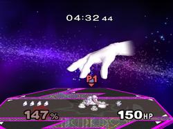 Master Hand Lanzamiento hacia abajo SSBM