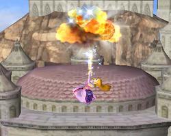 Ataque aéreo hacia arriba de Zelda SSBM