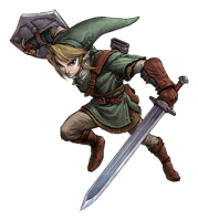 Pegatina Link Twilight Princess SSBB