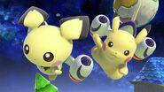Pichu y Pikachu en Mario Galaxy SSBU