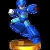 Trofeo de Mega Man X SSB4 (3DS)