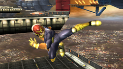 Ataque aéreo normal Captain Falcon SSBB (2)