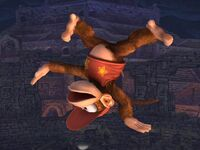 Ataque aéreo normal Diddy Kong SSBB