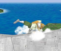 Ataque de recuperación de cara al suelo de Fox (1) SSBM