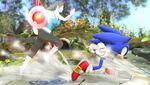 Bomba Gooey adherida a la entrenadora de Wii Fit SSB4 (Wii U)