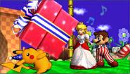 Créditos Modo Leyendas de la lucha Pikachu SSB4 (3DS)