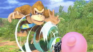 Donkey Kong junto a Kirby SSBU