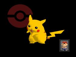 Pose de victoria Pikachu B (2) SSBM