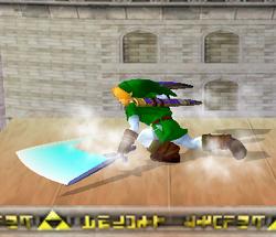 Ataque Smash hacia abajo de Link (2) SSBM