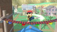 Ataque fuerte lateral Ness SSB4 (Wii U)