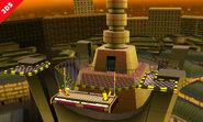 Olimar y Pikachu en la punta de la Torre Prisma - (SSB. for 3DS)