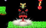 Telescarabajo siendo lanzado hacia arriba SSB4 (3DS)