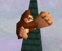 Ataque aéreo hacia adelante de Donkey Kong SSB