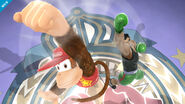 Diddy Kong y Little Mac en el Ring de boxeo SSB4 (Wii U)