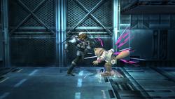 Snake Ataque Fuerte Lateral, primer golpe-SSBB
